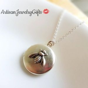 Sterling Silver Bee Locket Necklace